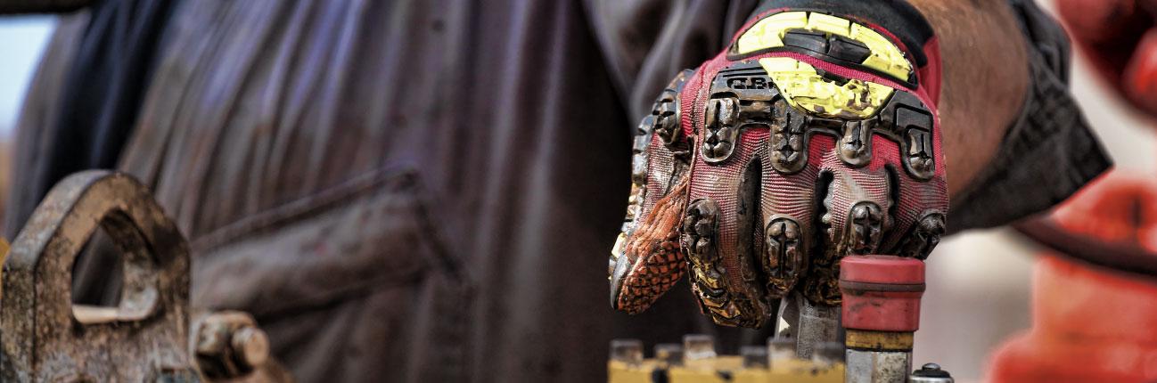 <h1>TECNOLOGÍA VIBRAM <br /> EN LA PALMA DE TU MANO</h1><span class='line'></span><p>Colecciones de guantes especiales para Seguridad <br /> Industrial, Petróleo & Gas.</p>